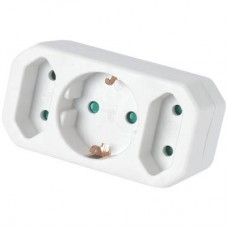 Adaptor Ρεύματος SAS 3 Θέσεων Λευκός